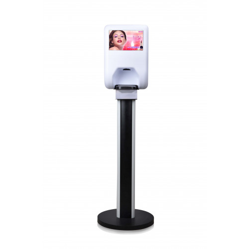"""10"""" Hand Sanitiser LCD Display, 450Nit Landscape, Android OS4.2, USB Plug & Play media upload to Screen, IR activated Auto Dispenser, includes 3 years RTB Warranty, includes Free SD Card & Do"""