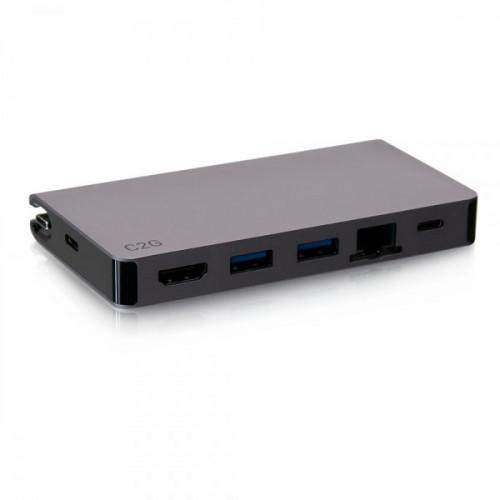 USB-C Travel Dock,HDMI 4K30,2USB,Eth,PD