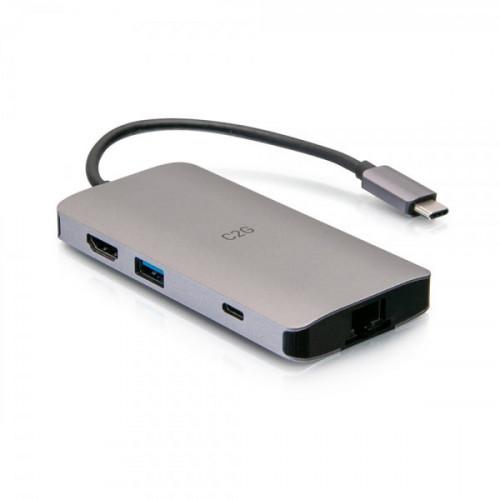 USB-C Mini Dock, HDMI 4K30,2USB,Eth,SD