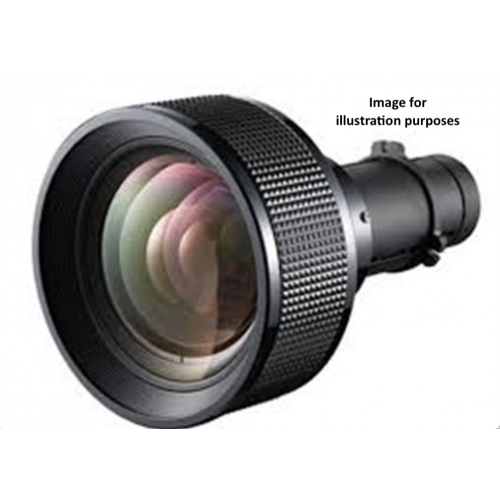Long Throw1 Lens, Zoom1 x1.5, XGA:3.71-5.57:1, WXGA:3.76-5.64:1, WUXGA:3.58-5.38:1, UHD:3.58-5.40:1
